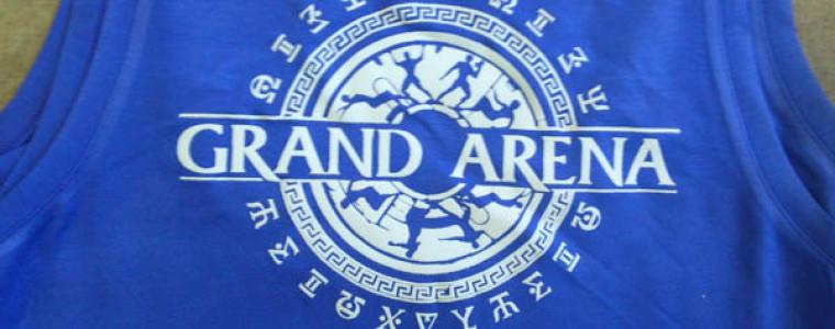 Нанесение grand arena на женскую майку