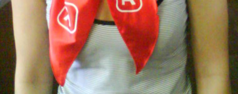 Косынка красная с логотипом