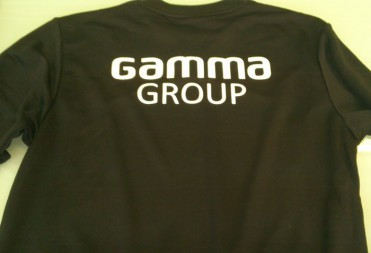 Нанесение логотипа «Gamma Group» на форму