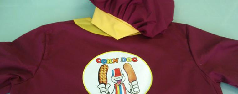 Нанесение логотипа Corn Dog на костюм